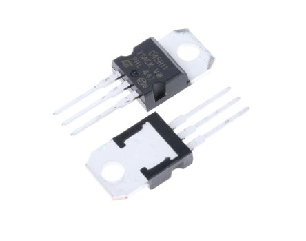 STMicroelectronics D45H11 PNP Transistor, 20 A, 80 V, 3-Pin TO-220 (5)