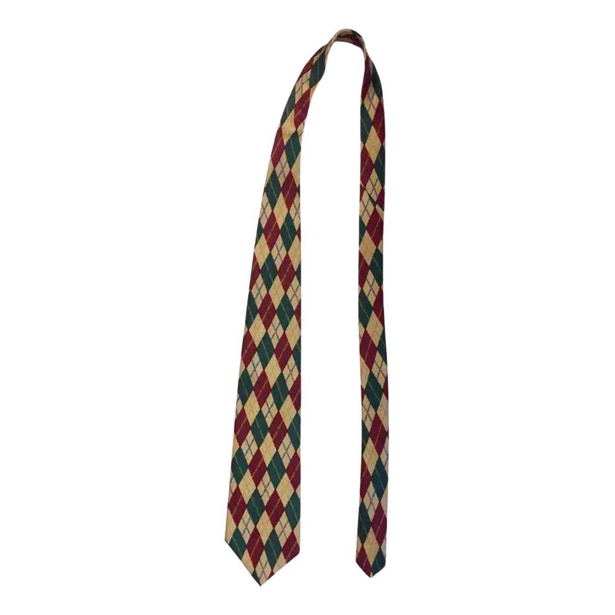 Abercrombie & Fitch - Cravates   pour homme en soie - jaune