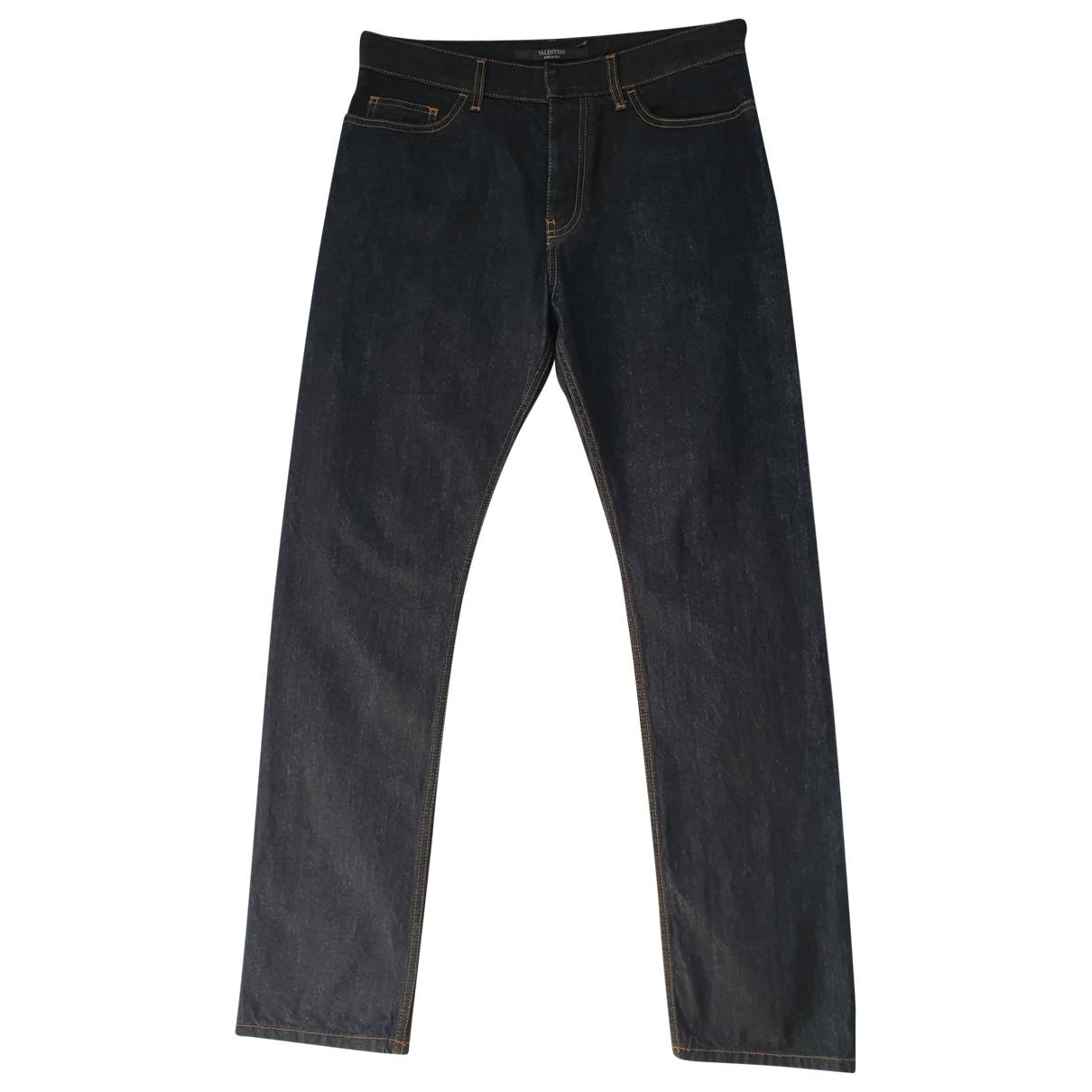 Valentino Garavani \N Navy Cotton Jeans for Men 30 US