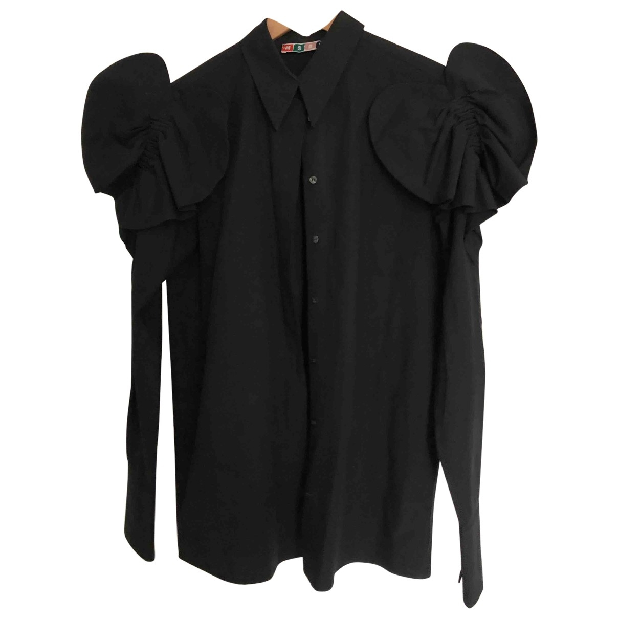 Msgm - Top   pour femme en coton - noir
