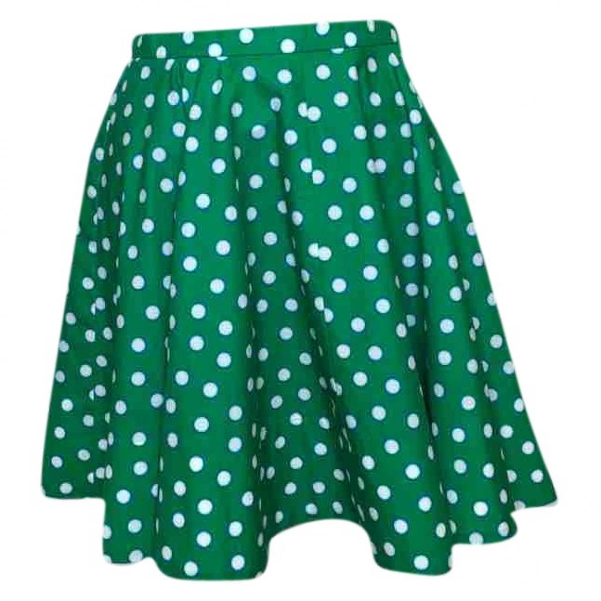 Miu Miu \N Green Cotton skirt for Women 40 IT