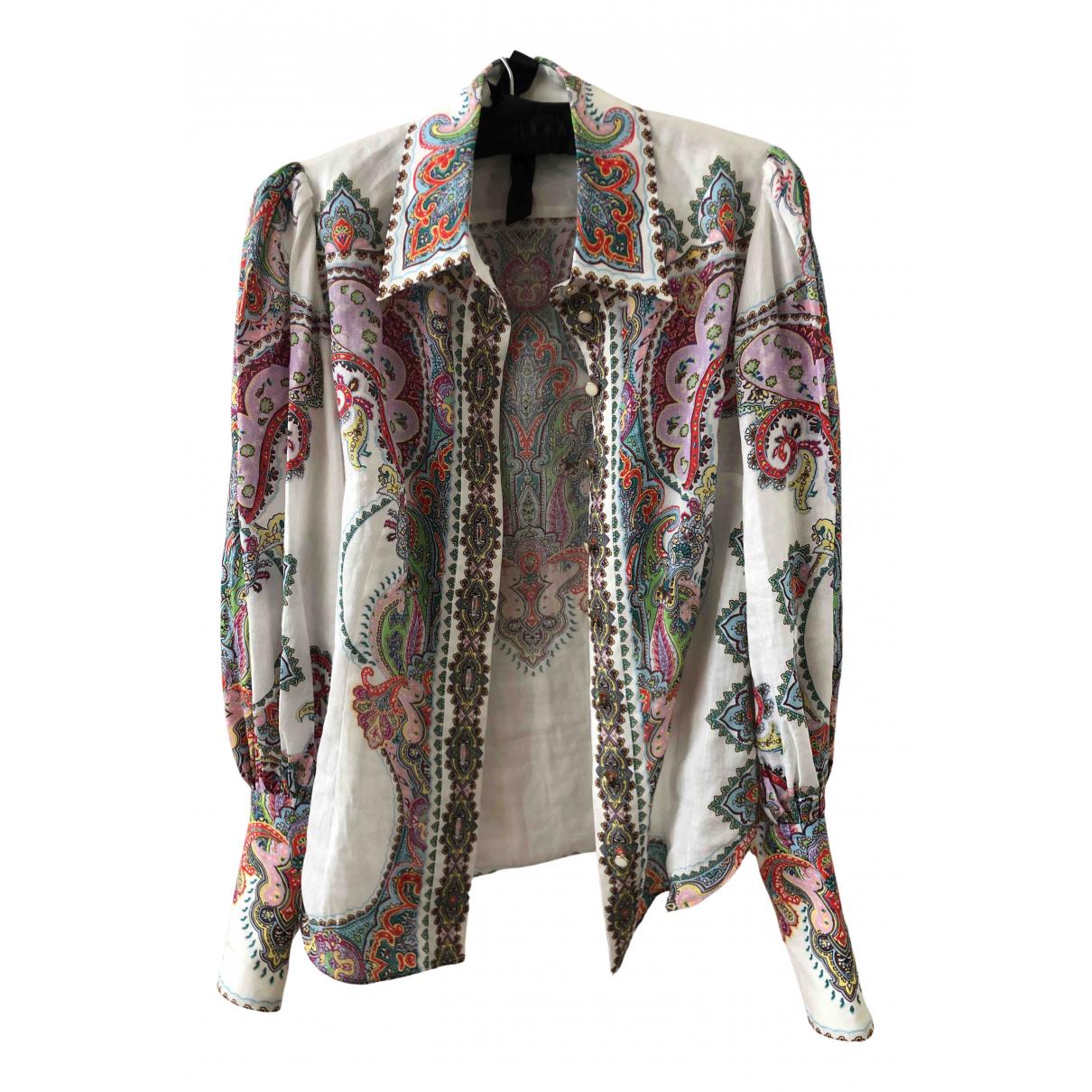 Zimmermann N Multicolour Linen  top for Women 32 FR
