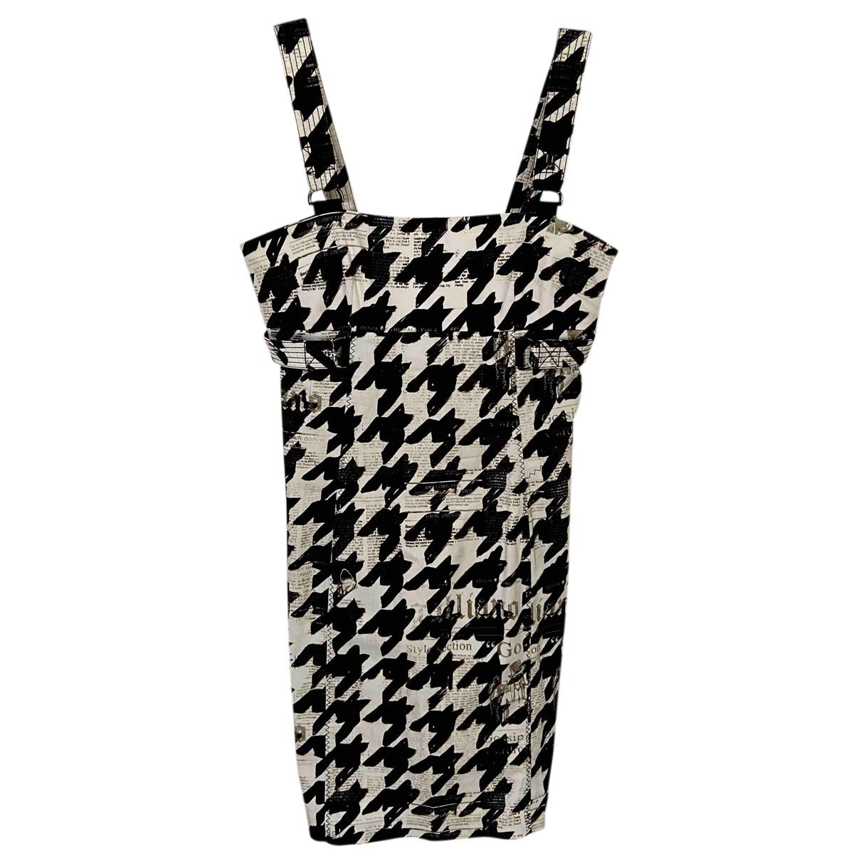 Galliano \N Kleid in  Schwarz Baumwolle