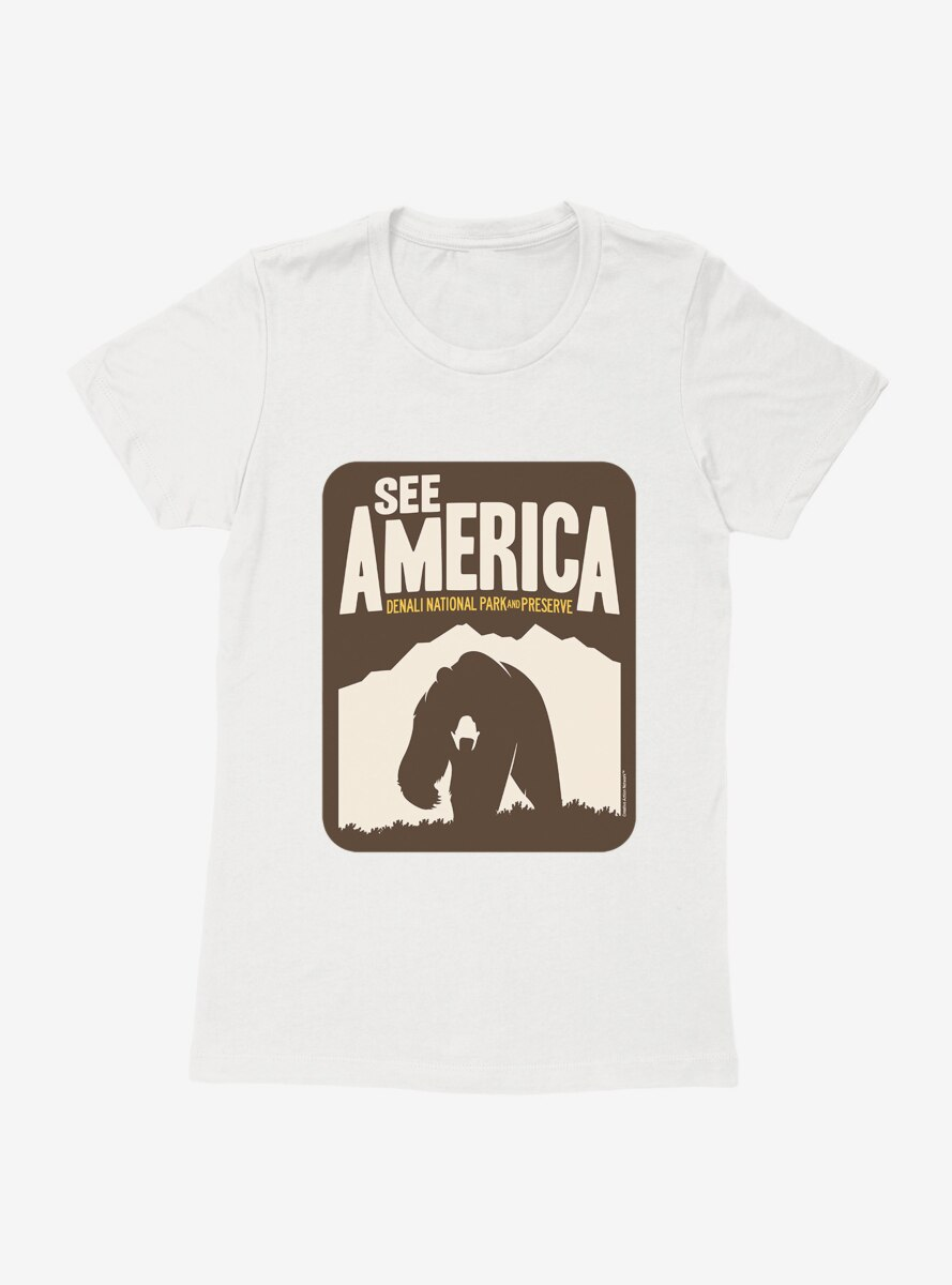 See America Denali National Park Womens T-Shirt