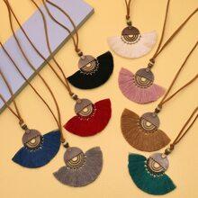 8 Stuecke Halskette mit Quasten Dekor