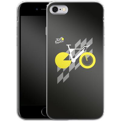 Apple iPhone 6s Silikon Handyhuelle - Yellow Bike von Le Tour de France