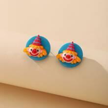 Clown Design Stud Earrings