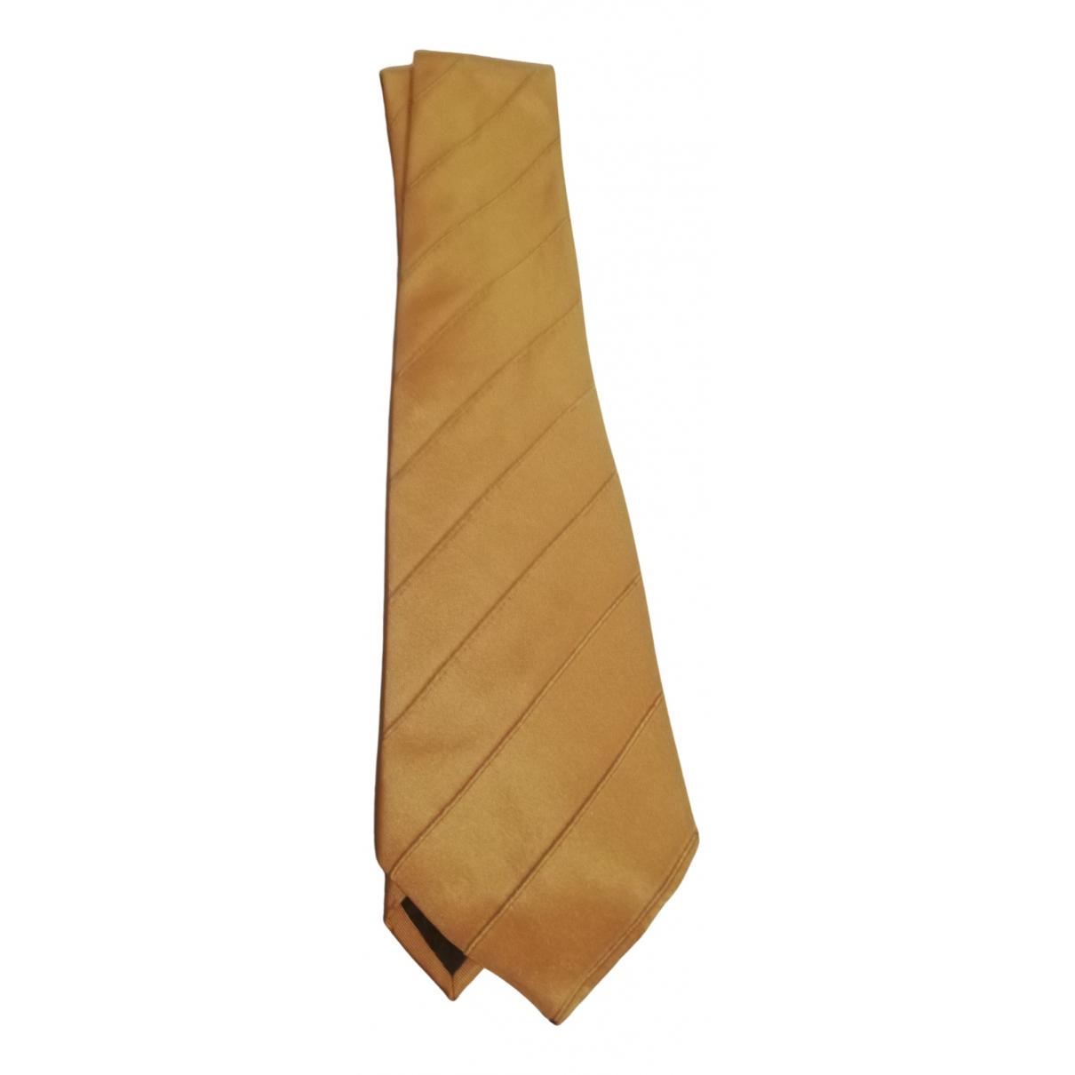 Trussardi \N Gold Silk Ties for Men \N