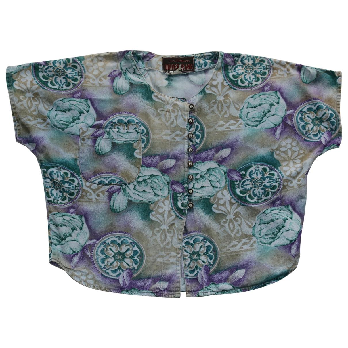 Non Signé / Unsigned Oversize Multicolour Cotton  top for Women L International