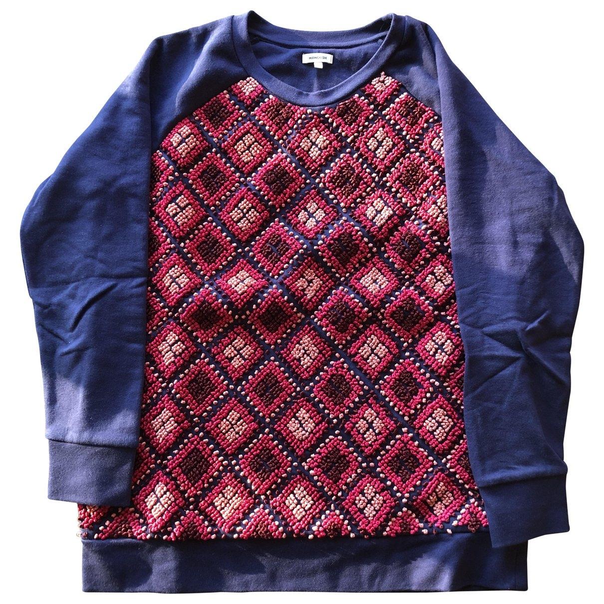 Manoush \N Pullover in  Blau Baumwolle