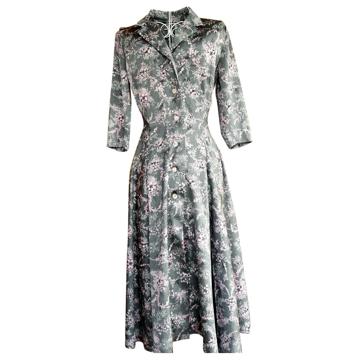 Non Signe / Unsigned \N Kleid in  Bunt Seide
