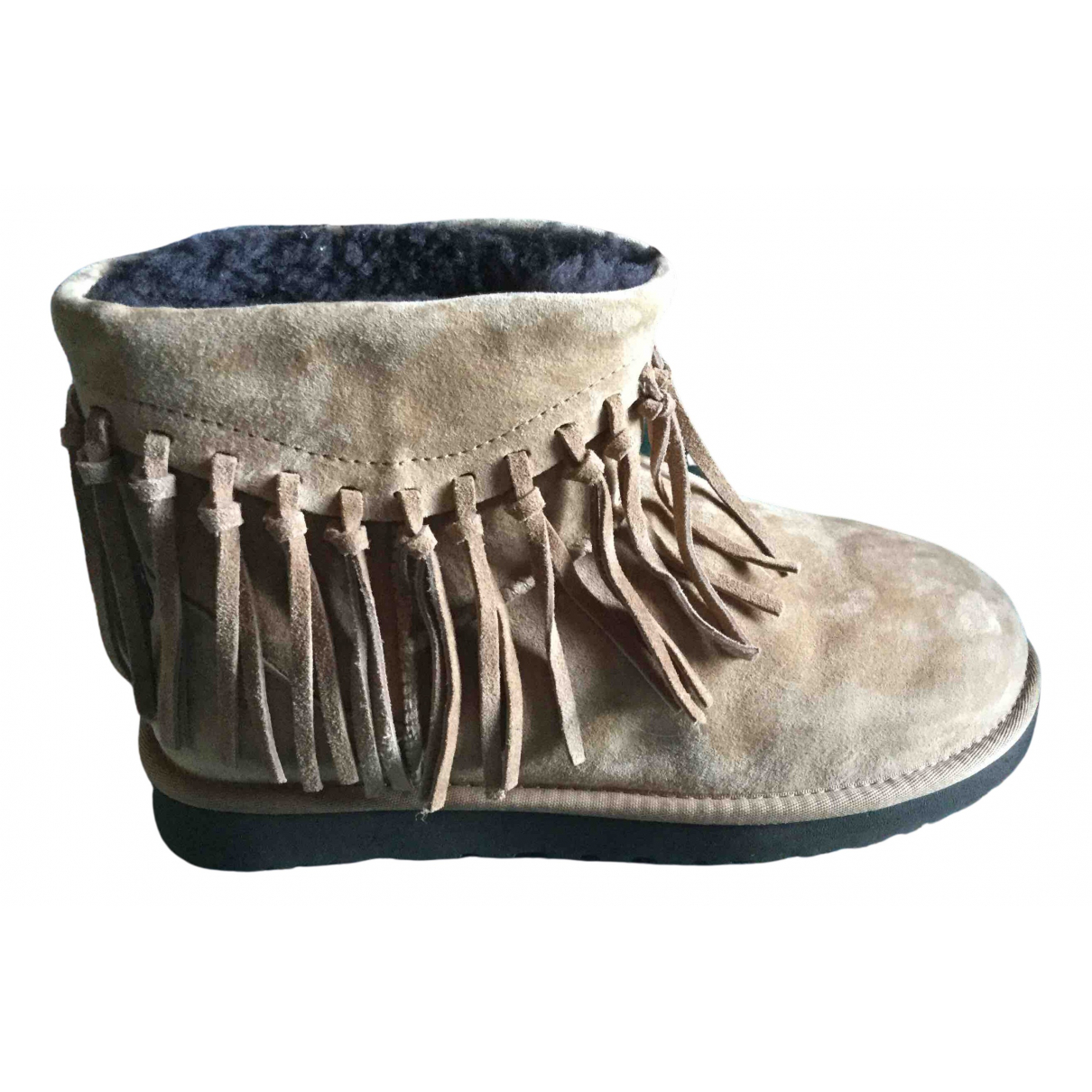 Ugg \N Camel Suede Ankle boots for Women 41 EU
