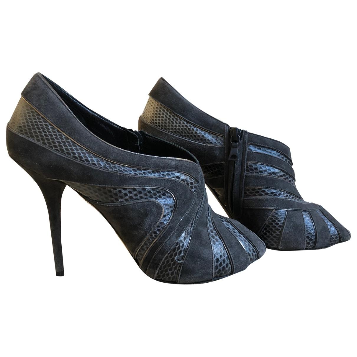 Dolce & Gabbana - Boots   pour femme en serpent deau - anthracite