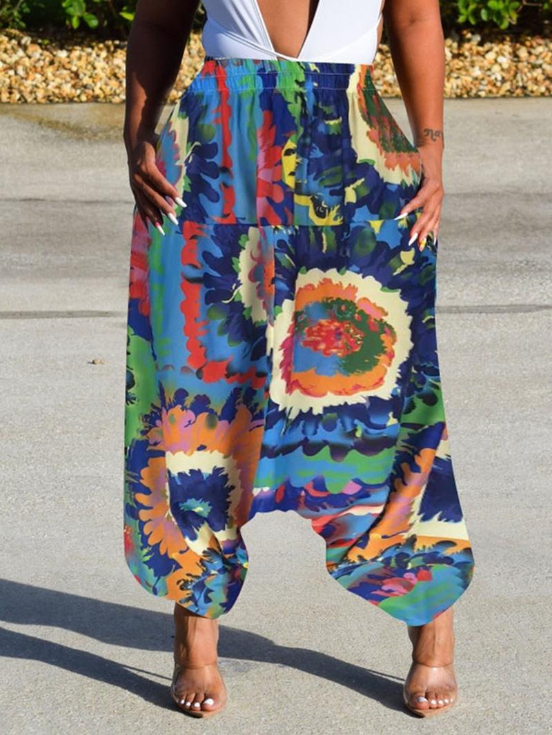 Ericdress Harem Print Loose High Waist Ankle Length Casual Pants