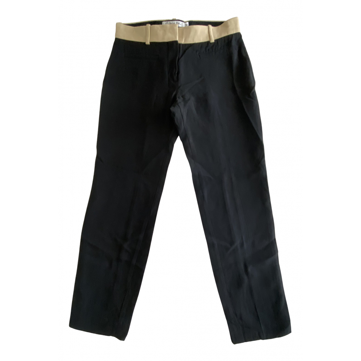 Dior N Black Silk Trousers for Women 36 FR