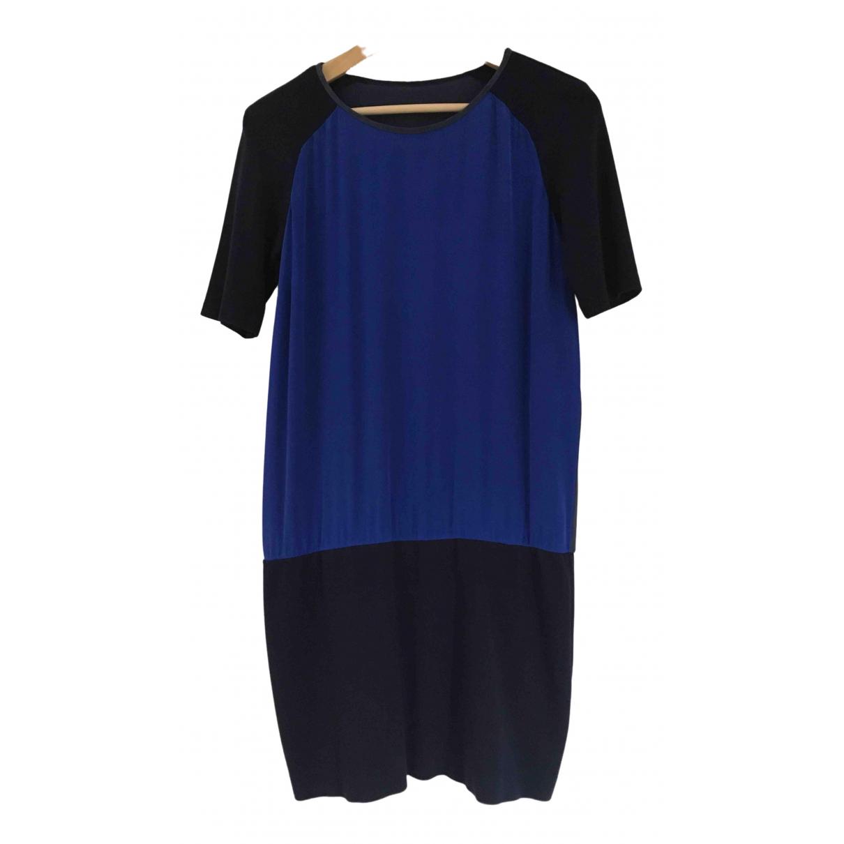 Maje \N Kleid in  Blau Seide