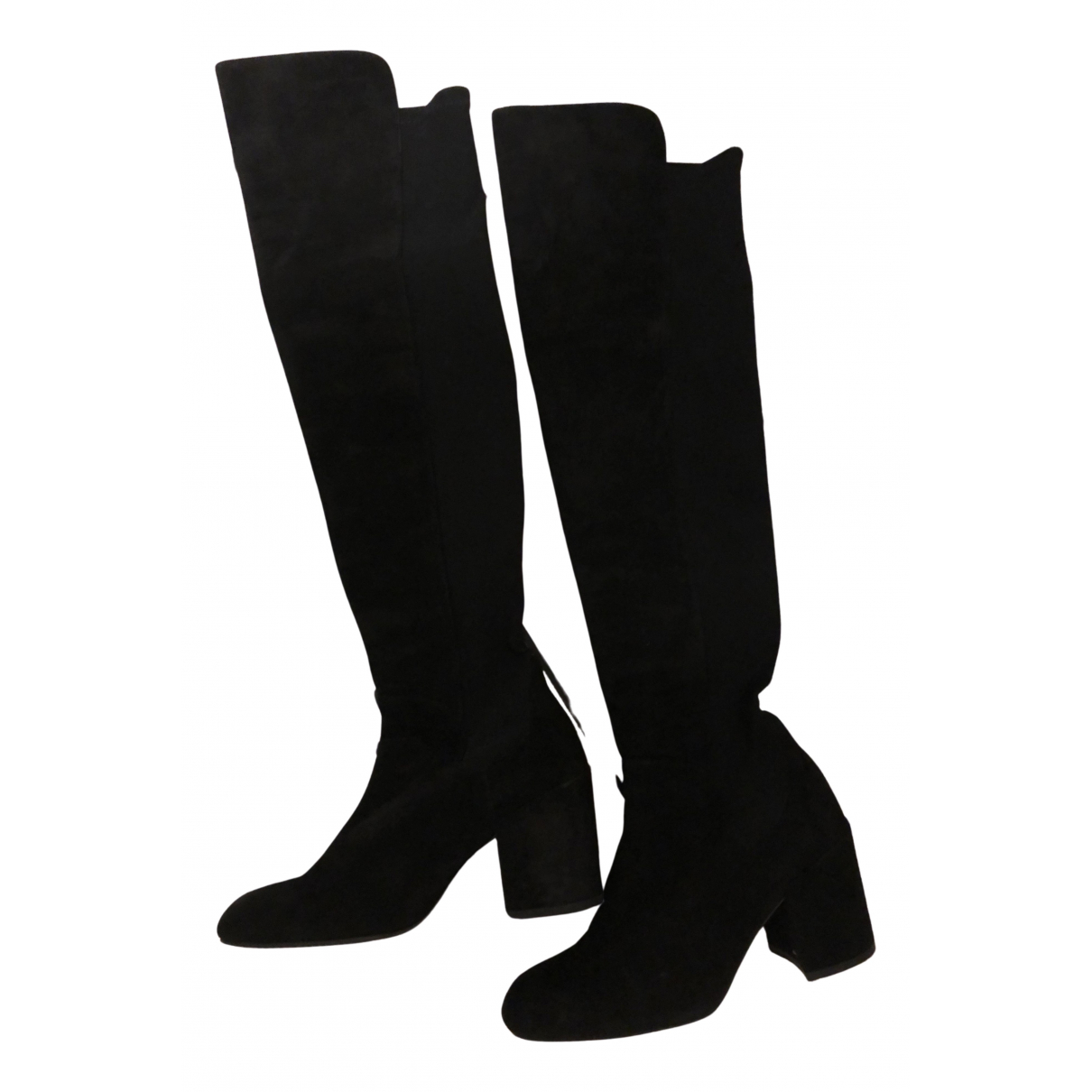 Stuart Weitzman N Black Leather Boots for Women 36 EU