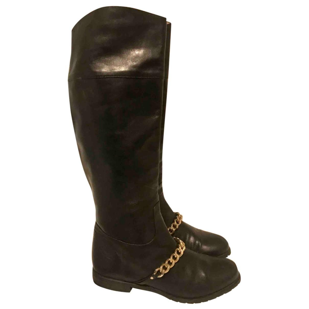Blumarine - Bottes   pour femme en cuir - noir
