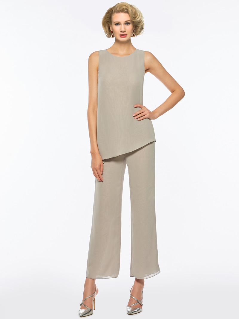 Ericdress 3 Pieces Chiffon Mother of the Bride Pantsuits