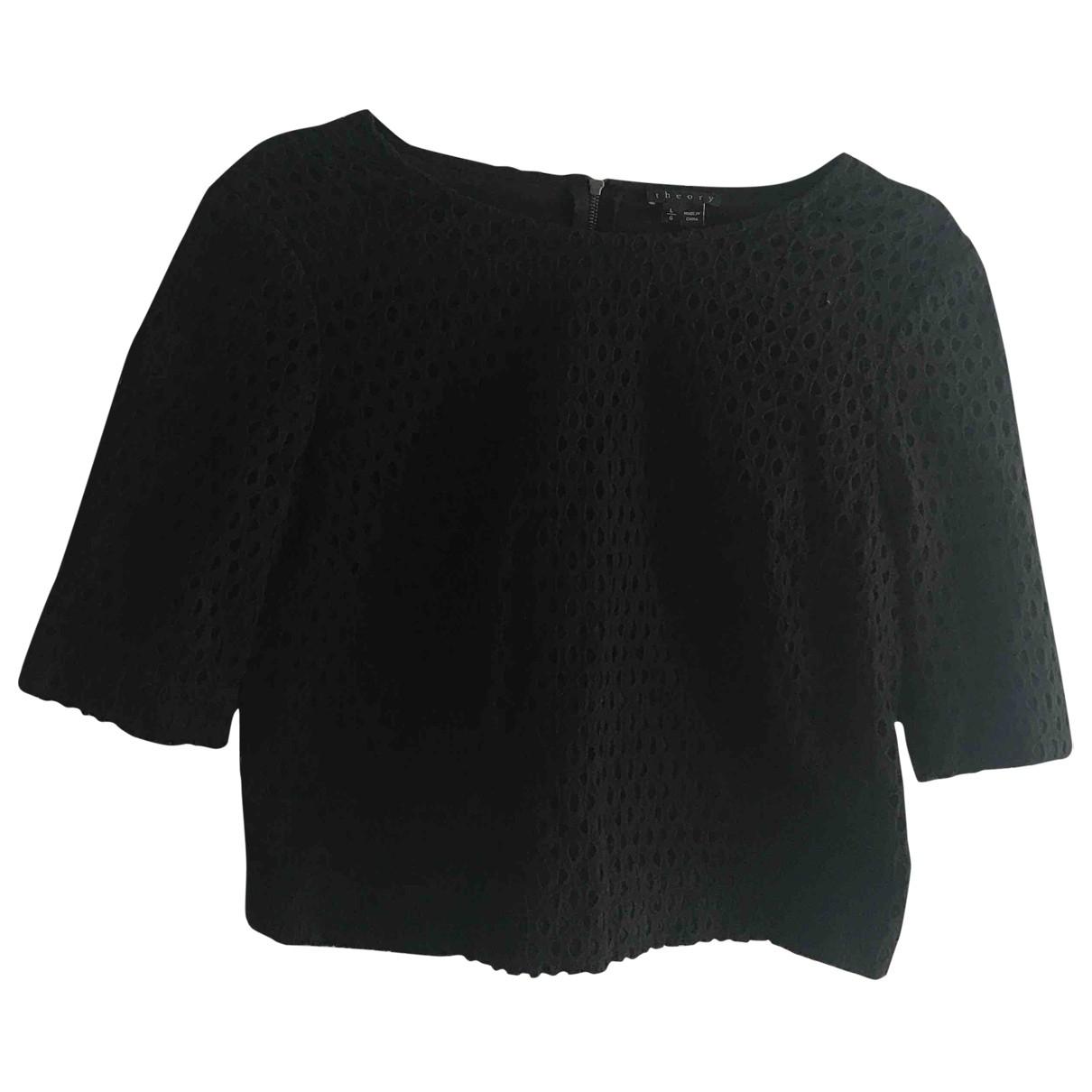 Theory - Top   pour femme en coton - noir