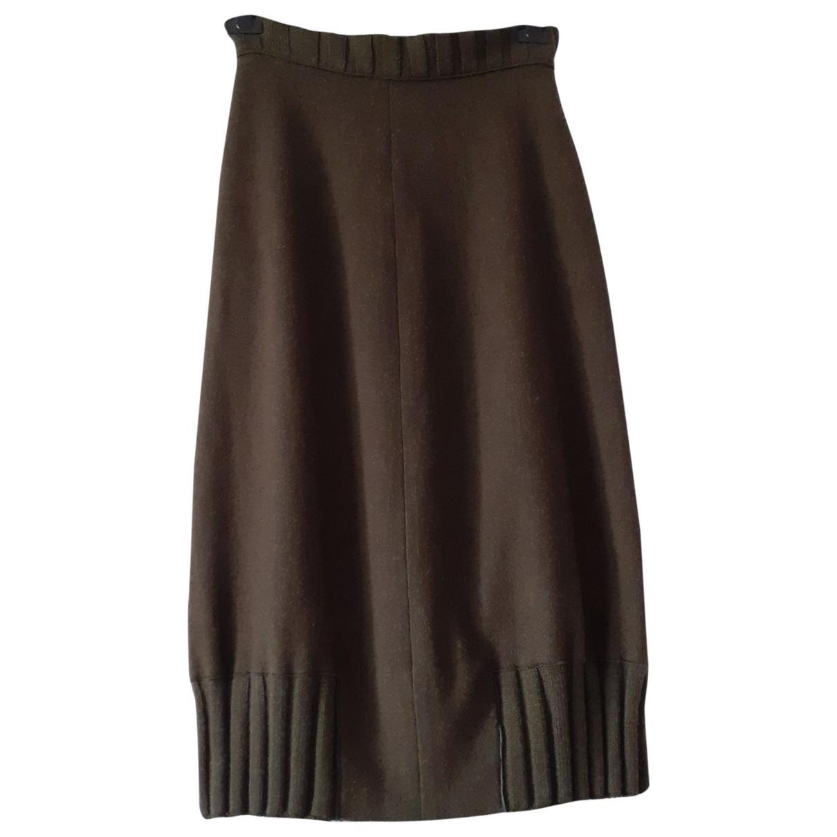 Krizia - Jupe   pour femme en laine - kaki