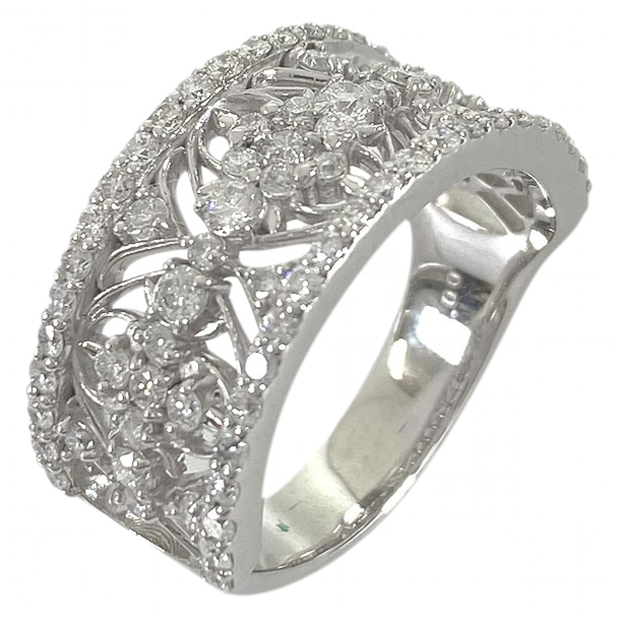 Non Signe / Unsigned \N Ring in  Silber Weissgold
