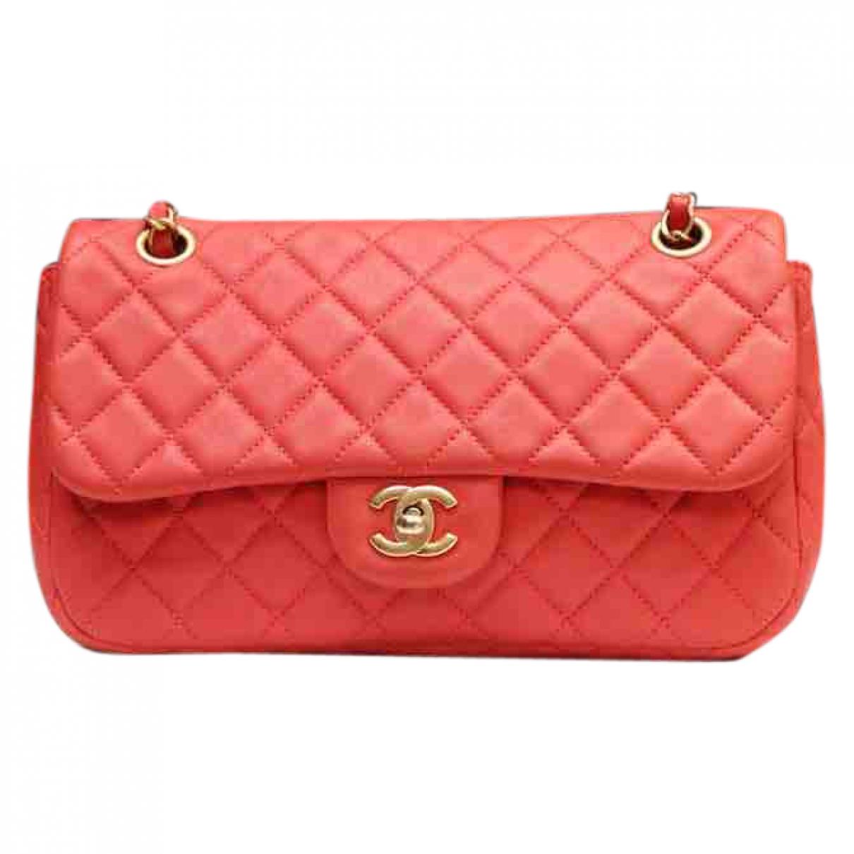 Chanel Timeless/Classique Orange Leather handbag for Women \N