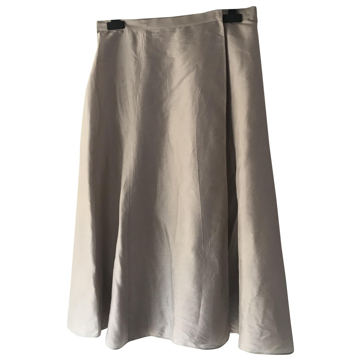 Calvin Klein \N Grey Silk skirt for Women 42 IT