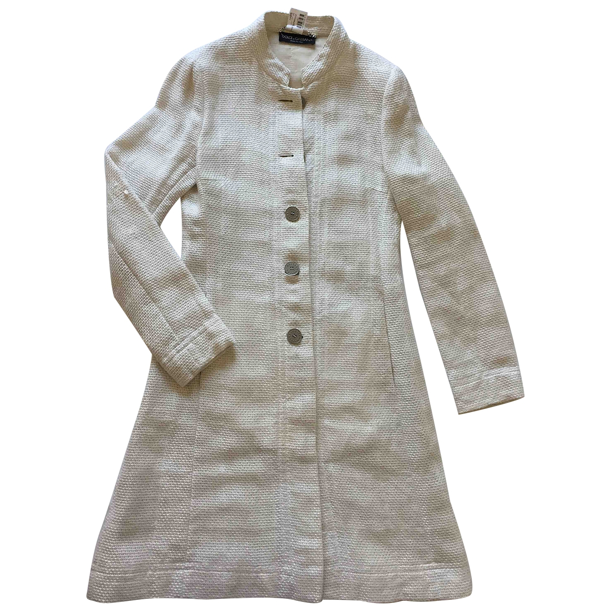 Dolce & Gabbana \N Ecru Linen coat for Women 44 IT