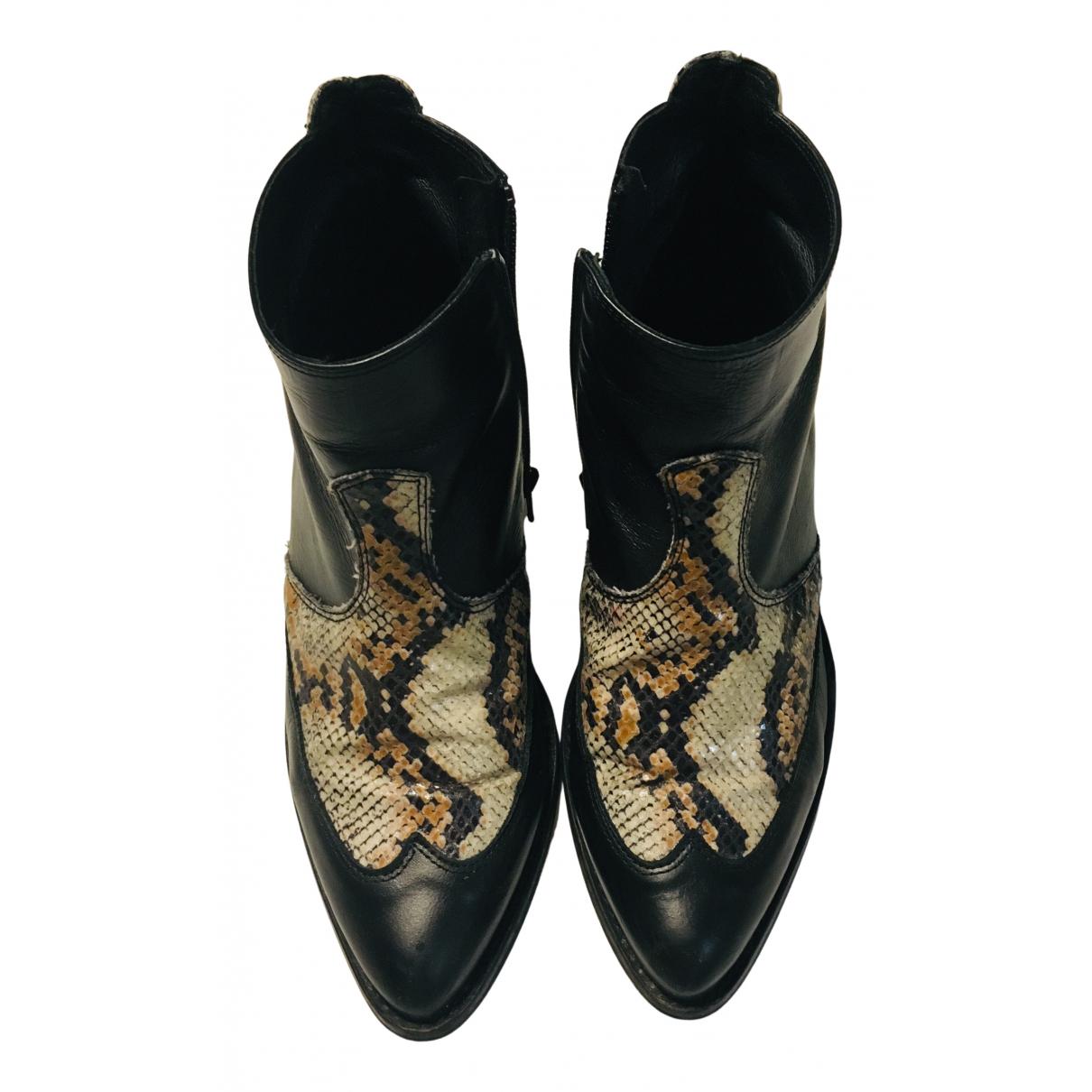 River Island - Boots   pour femme en cuir - multicolore