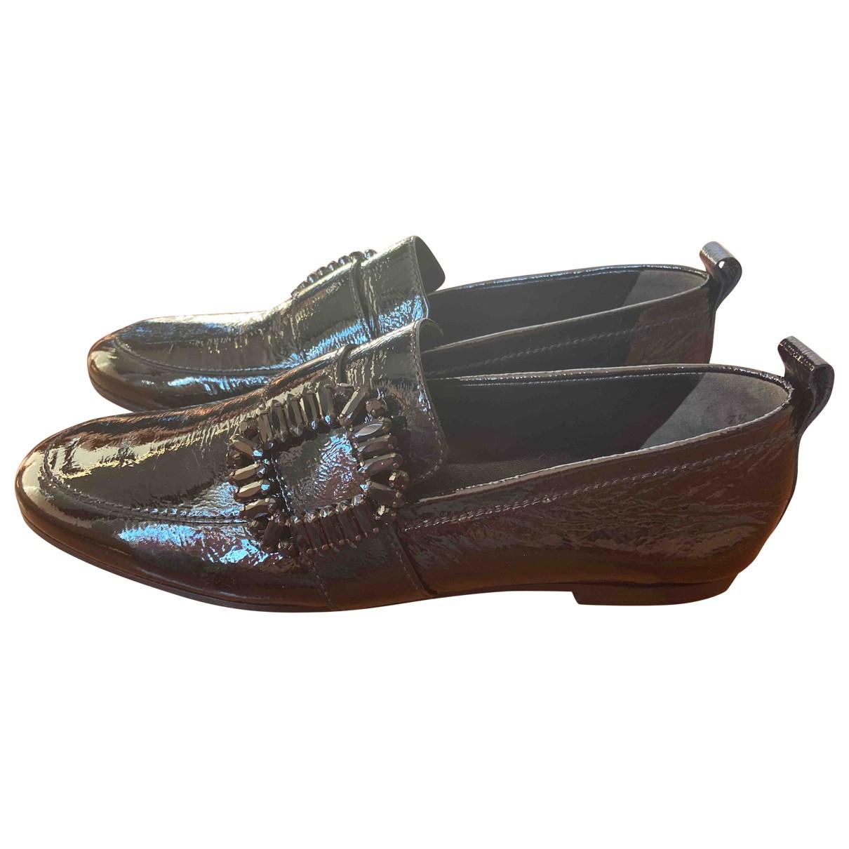 Kennel Und Schmenger \N Black Leather Flats for Women 41.5 EU