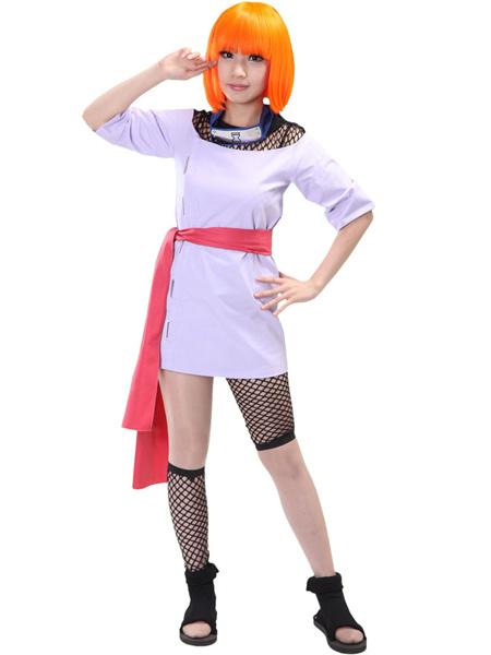 Milanoo Halloween Traje de Temari para cosplay de Naruto de estilo moderno