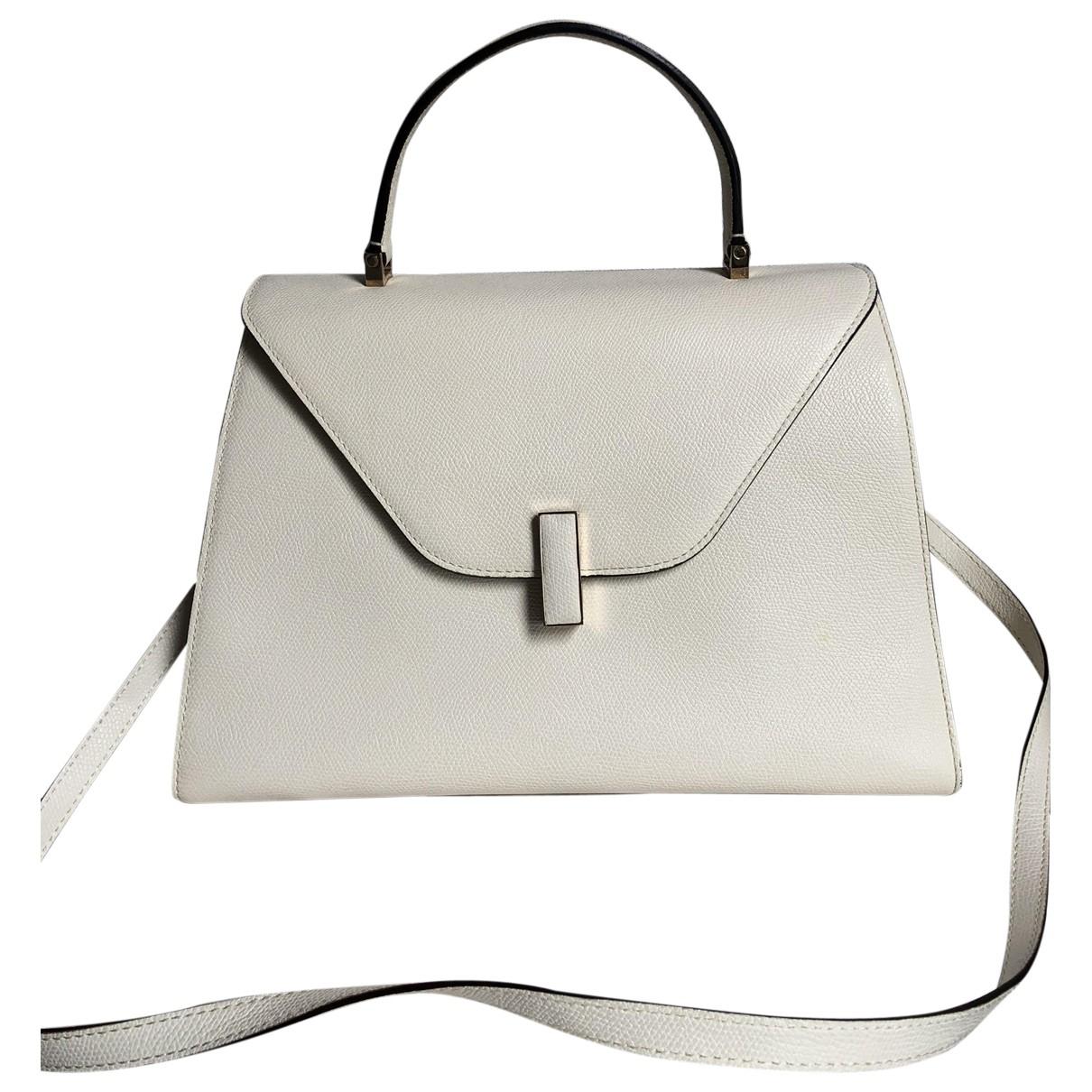 Valextra Iside Handtasche in  Weiss Leder