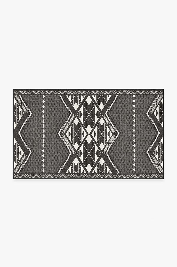 Washable Rug Cover | Halona Charcoal Rug | Stain-Resistant | Ruggable | 3'x5'