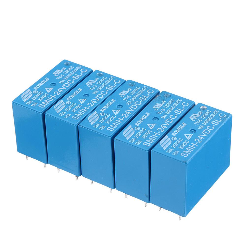 5PCS SMIH-05VDC-SL-C SMIH-12VDC-SL-C SMIH-24VDC-SL-C 16A 8PIN Relay 05 12 24 V Relay Module