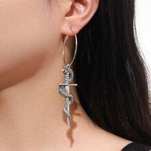Ohrringe mit Schlange Design