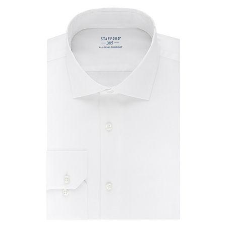 Stafford Mens Wrinkle Free 365 All-Temp Flex Collar Big and Tall Dress Shirt, 18.5 38-39, White