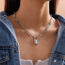 1pc Lock Charm Chain Necklace