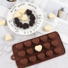 1 Stueck Schokoladenform in Herzenform mit 15 Gitter
