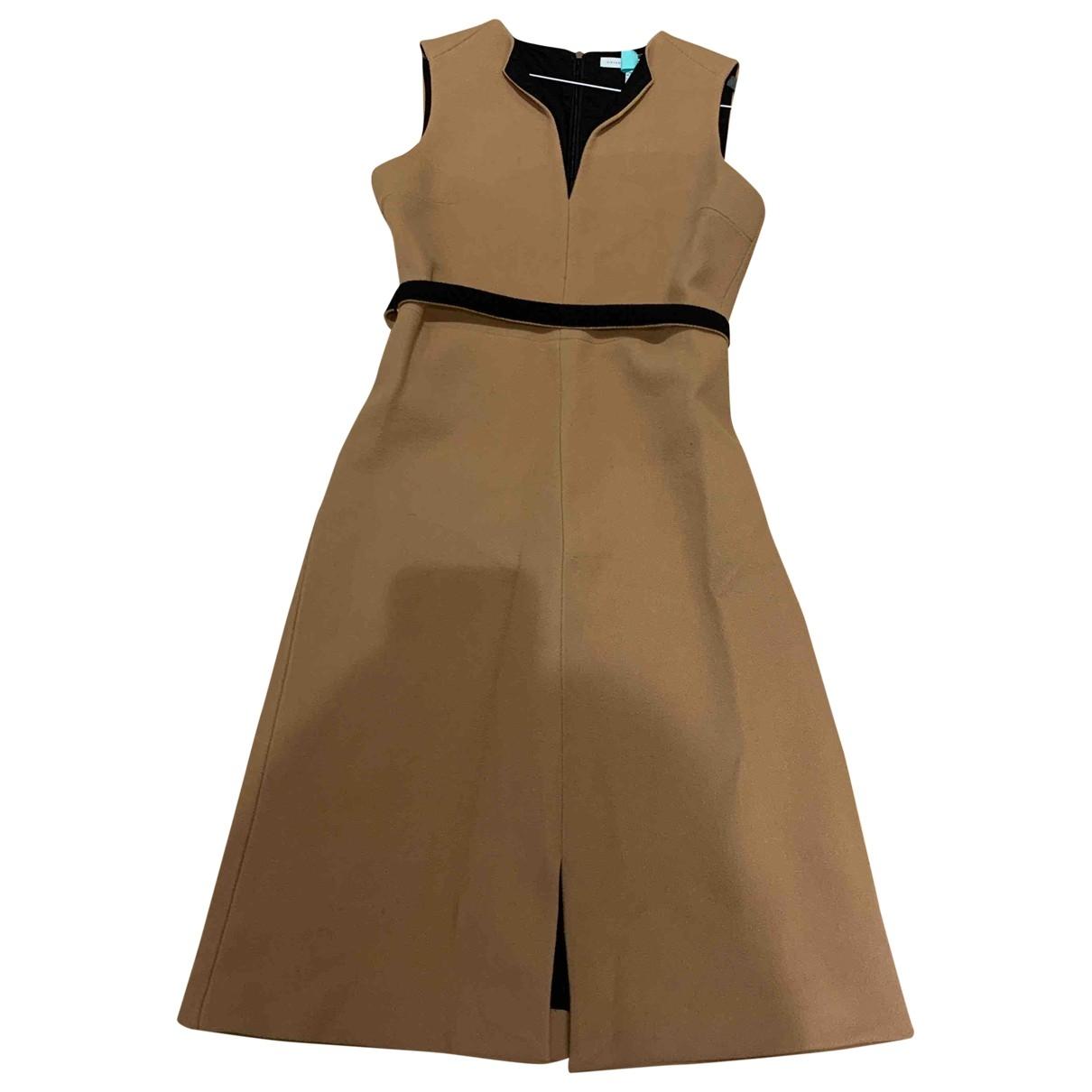Victoria, Victoria Beckham \N Kleid in  Beige Wolle