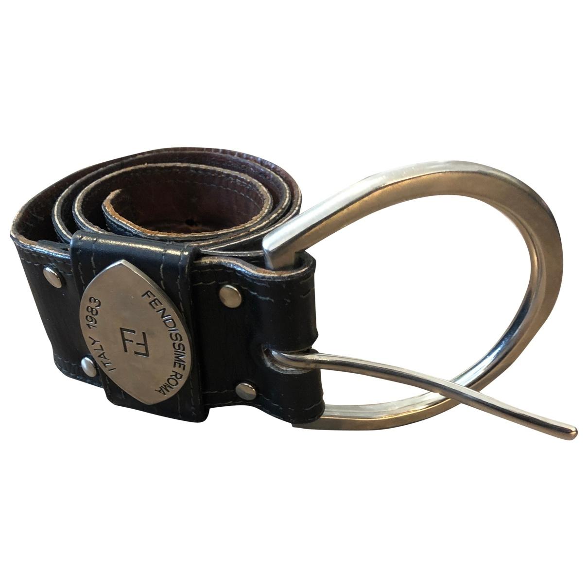 Fendissime Multi-accessory Belt Black Leather belt for Women 90 cm