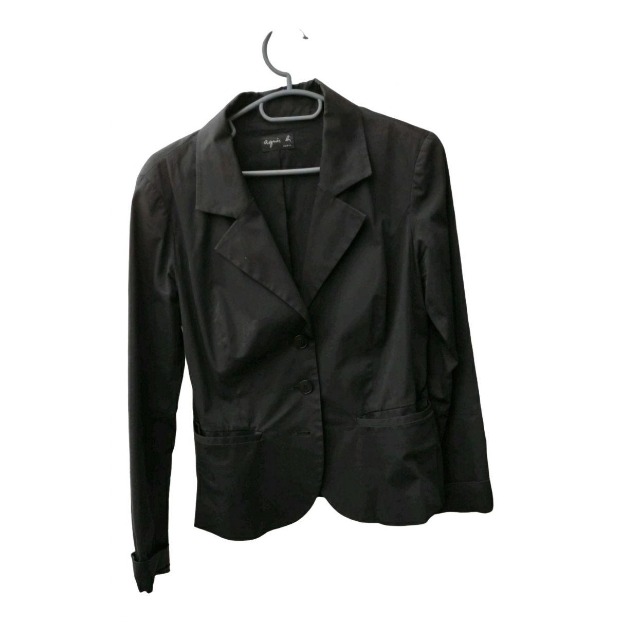 Agnes B. - Veste   pour femme en coton - noir