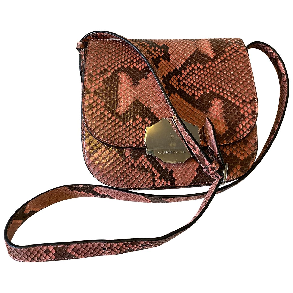 Calvin Klein 205w39nyc \N Handtasche in  Rosa Python