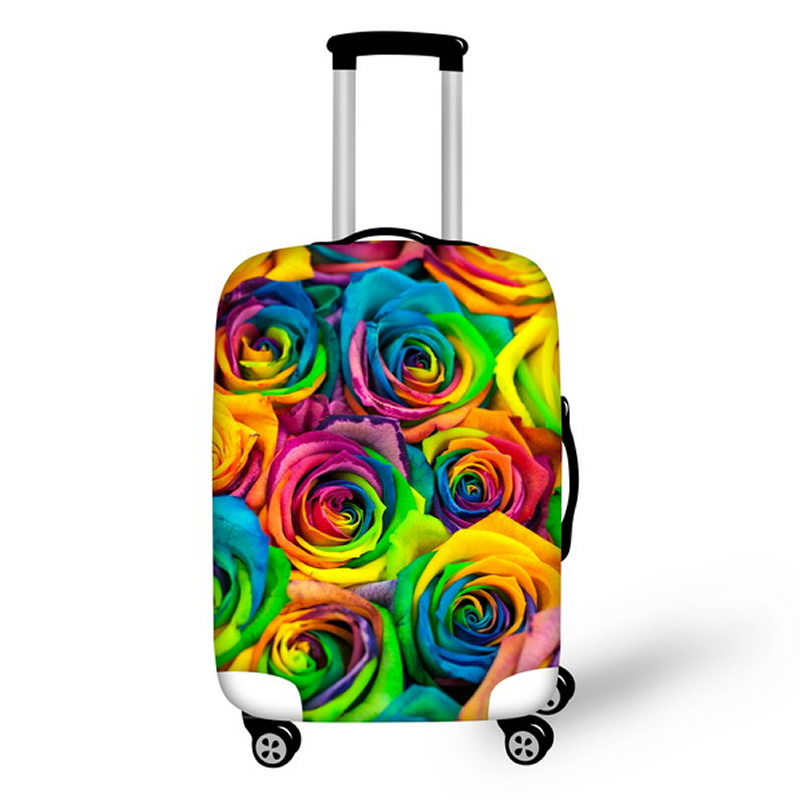 Colorful Flower Pattern Waterproof Suitcase Protector for 19 20 21
