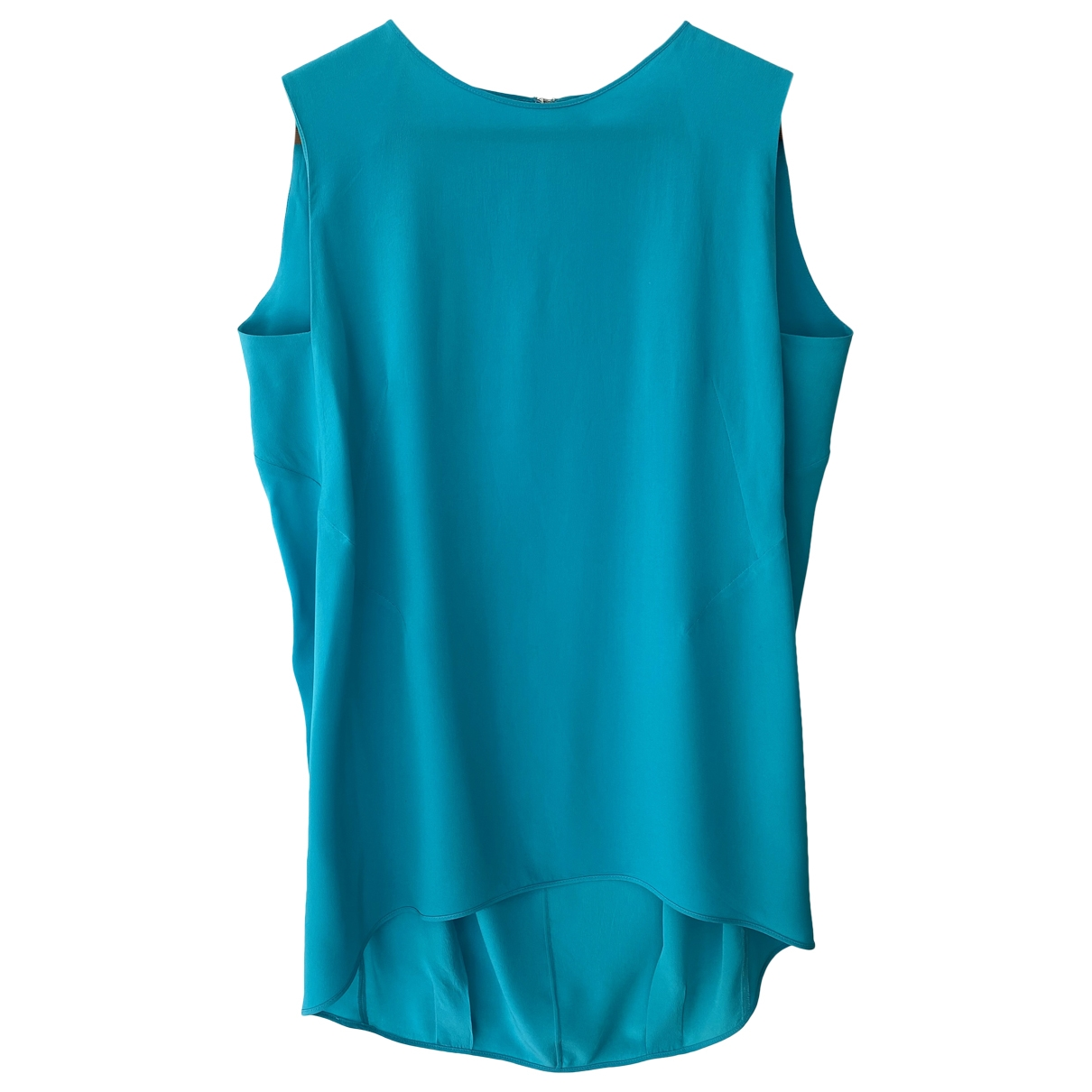 Sport Max \N Turquoise Silk  top for Women 44 IT