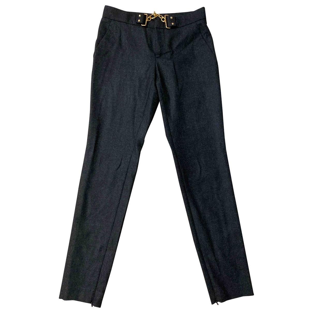 Gucci \N Grey Wool Trousers for Women 38 IT