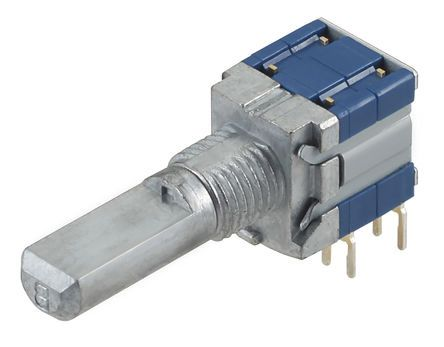 Alps Alpine , 4 Position DP4T Rotary Switch, 100 mA, PC Pin