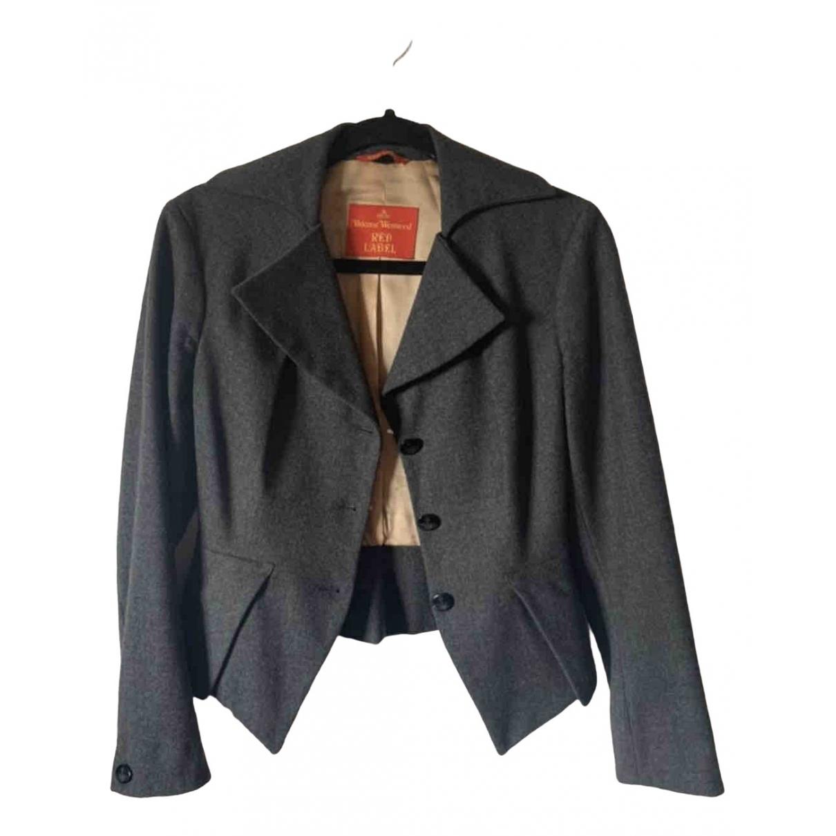 Vivienne Westwood Red Label - Veste   pour femme en laine - gris