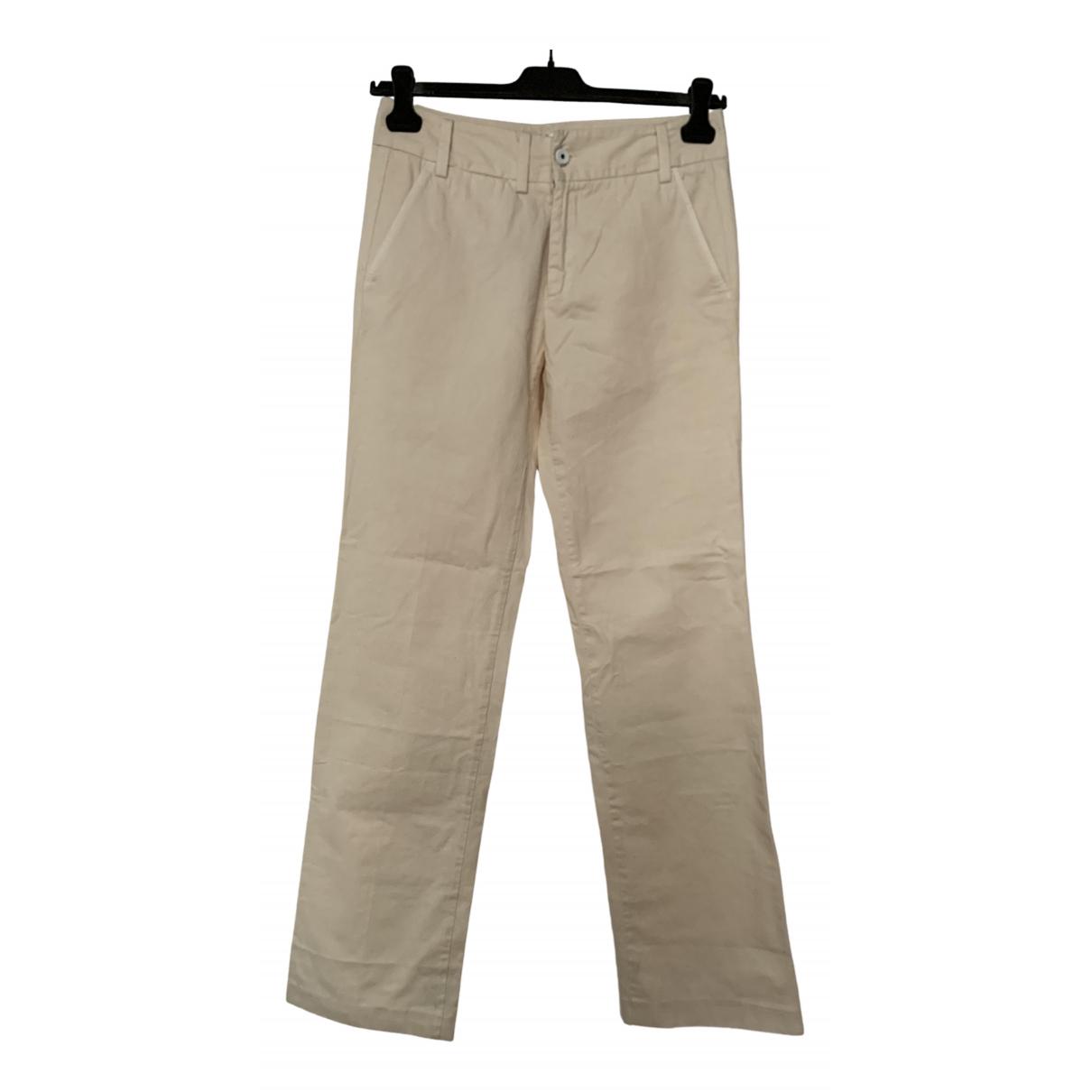 Diesel \N White Cotton Trousers for Men 28 UK - US