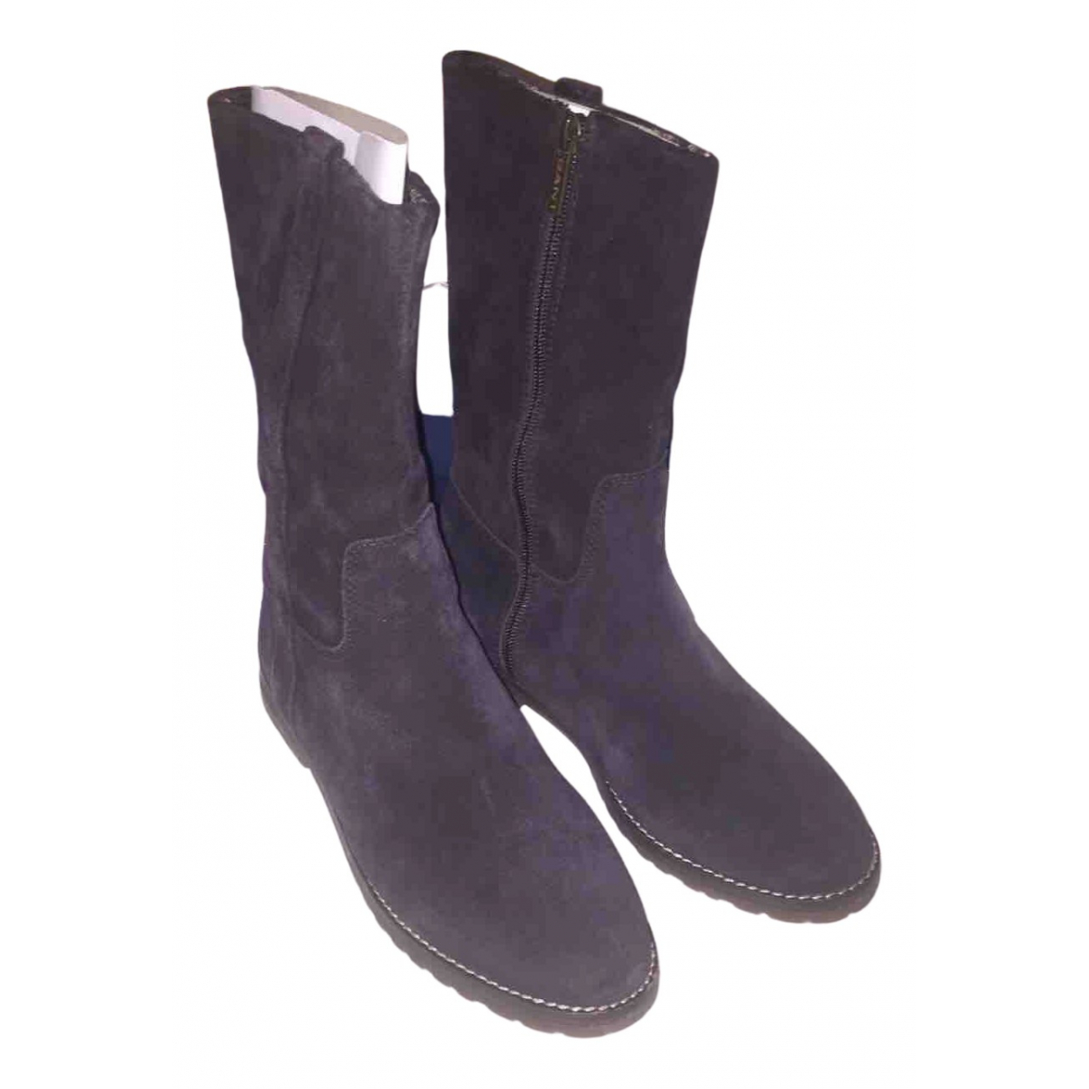 Gant \N Blue Suede Boots for Women 39 IT